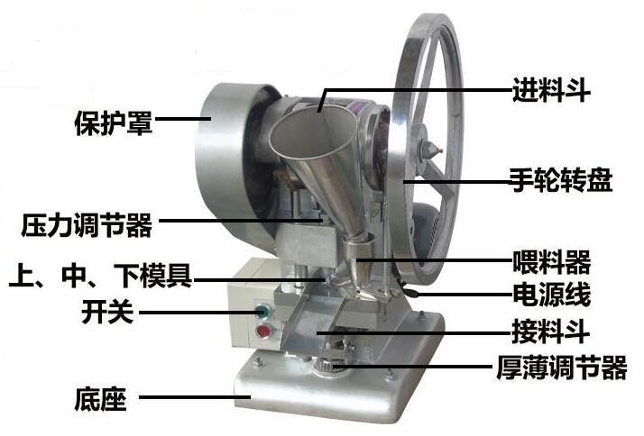 TDP 1.5 Single Punch Tablet Press machine for lab